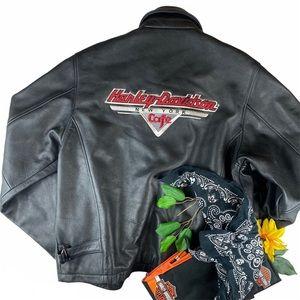 VTG Harley Davidson Leather Jacket New York Cafe